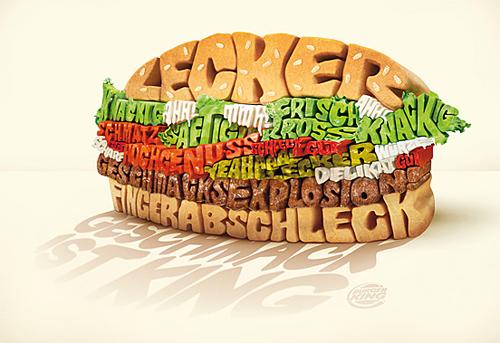 3d Typography Designs - Burger