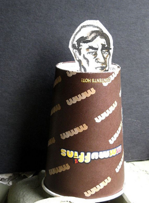 Coffee Cup Design - Conrad Black Coffee Cup Puppet