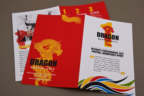 Brochure Design Examples - Martial Arts Academy Brochure