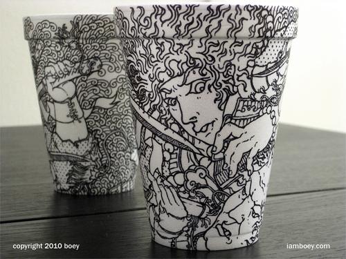 Coffee Cup Design - Demonslayer Coffee Cup