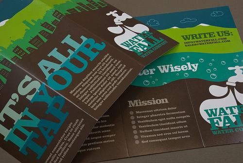 Brochure Design Examples - Graphic Water Company Brochure