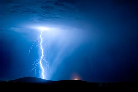 Photos of Lightning - Lightning Storm and Brush Fire