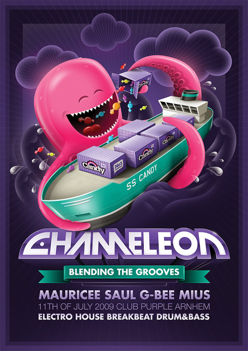 Flyer Design Ideas - Chameleon Octopus