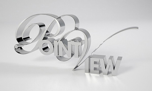 3d Typography Designs - Point View