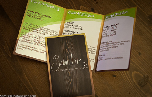 Brochure Design Examples - Salon Ink Brochures