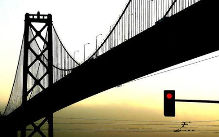 Silhouette Photos - Bay Bridge Silhouette