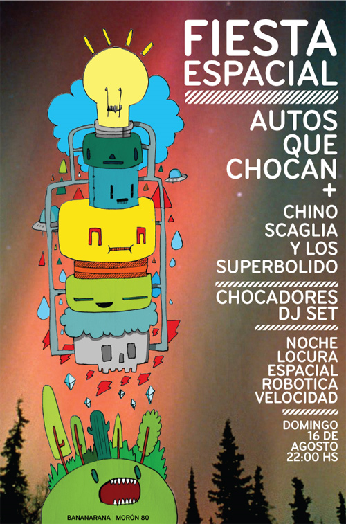 Flyer Design Ideas - Flyer Fiesta Espacial
