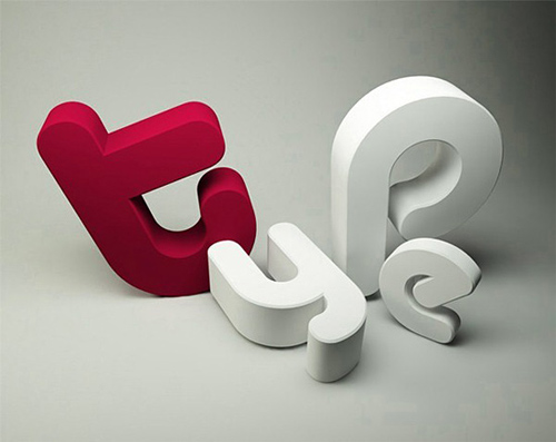 3d Typography Designs - Type 2
