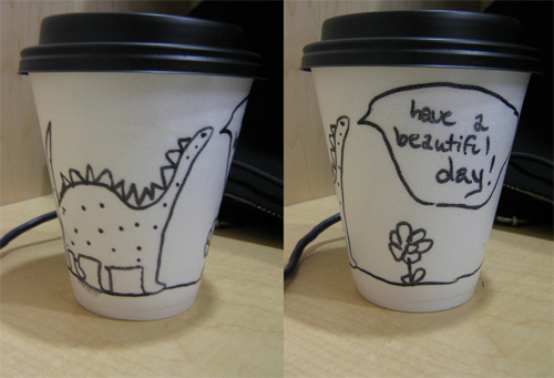 Coffee Cup Design - Dinosaur Coffee Cup
