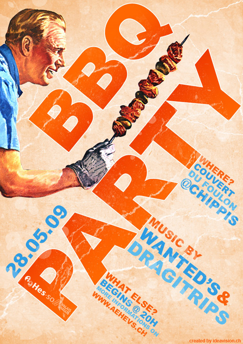 Flyer Design Ideas - BBQ Party Flyer