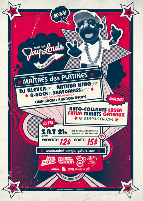 Flyer Design Ideas - What Up Gangstars Party People