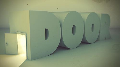 3d Typography Designs - Door