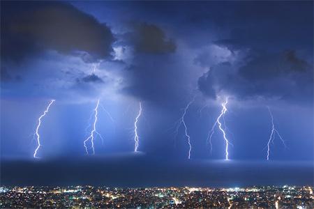 Photos of Lightning - Thunderstorm over Beirut