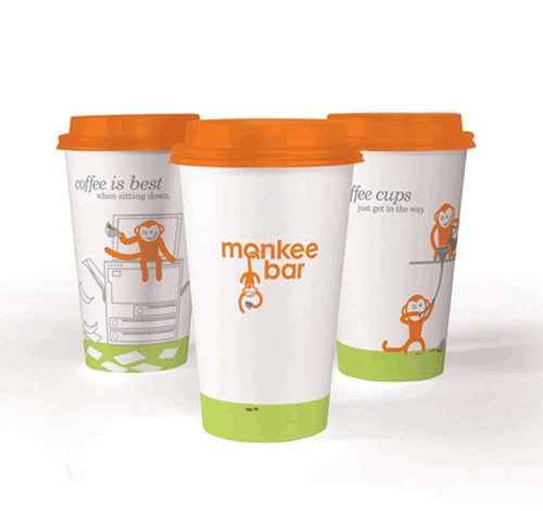 Coffee Cup Design - Monkee Bar Identity