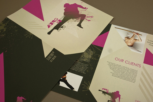 Brochure Design Examples - Martial Arts