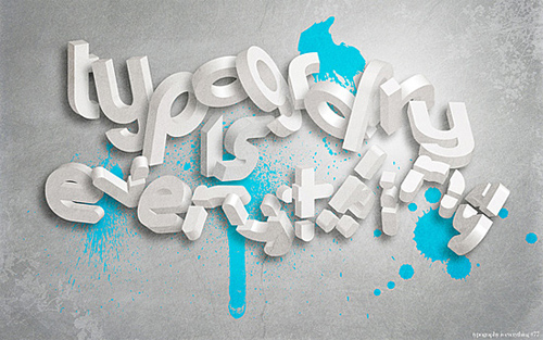 3d Typography Designs - Typography