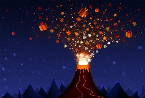 Free Christmas Desktop Wallpapers - Christmas Volcano