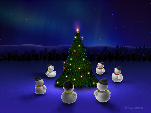 Free Christmas Desktop Wallpapers - Waiting for the Miracle