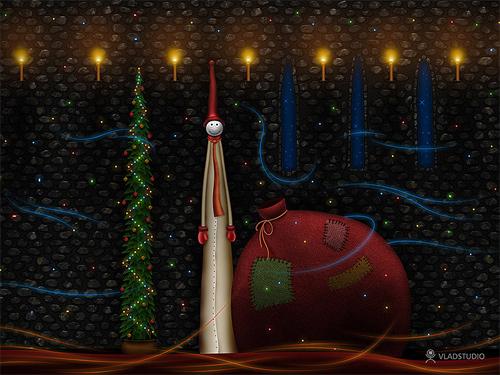 Free Christmas Desktop Wallpaper - Christmas Bag