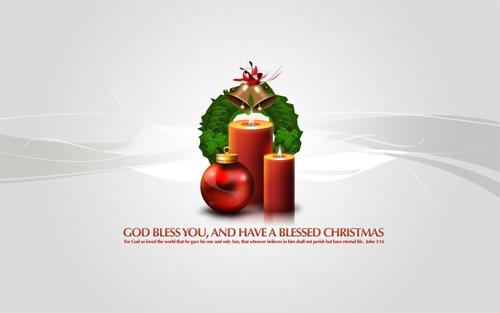 Free Christmas Desktop Wallpaper - Christmas Globe Mix