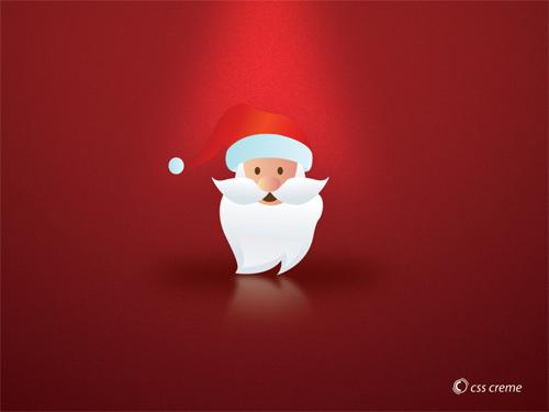 Free Christmas Desktop Wallpaper - Santas Head Wallpaper