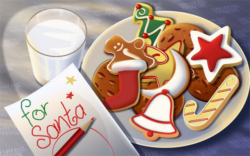 Free Christmas Desktop Wallpaper - Christmas Cookies