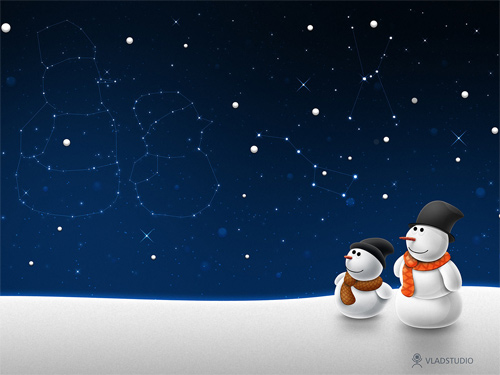 Free Christmas Desktop Wallpapers - Snow Child