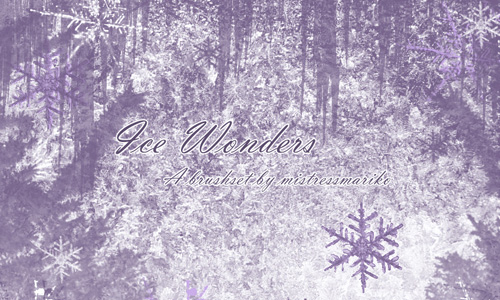 Christmas Brushes for Photoshop - Ice Wonders