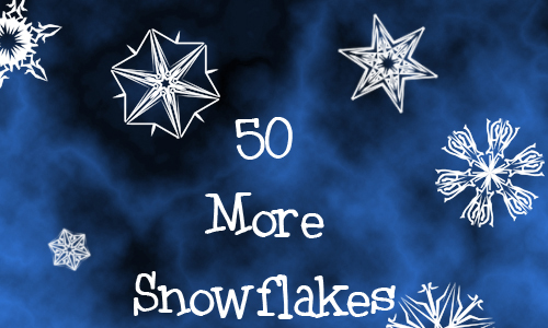 Christmas Brushes for Photoshop - More Snowflakes