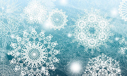 Christmas Brushes for Photoshop - Photoshop Brushes Snowflakes