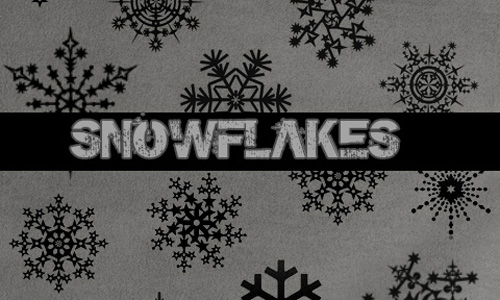 Christmas Brushes for Photoshop - Snowflakes
