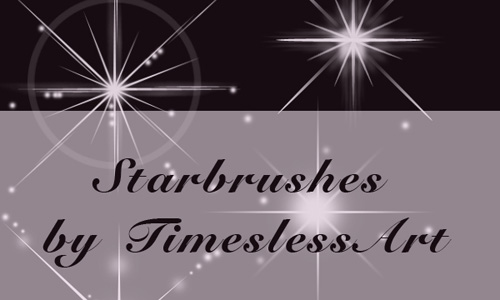 Christmas Brushes for Photoshop - Star Brushes