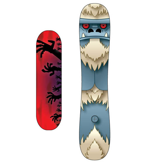 skateboard and snowboard