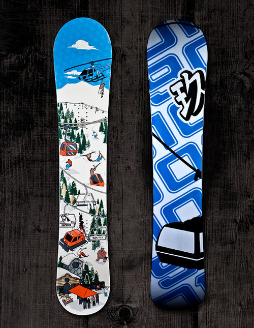 snowboards product graphics designed