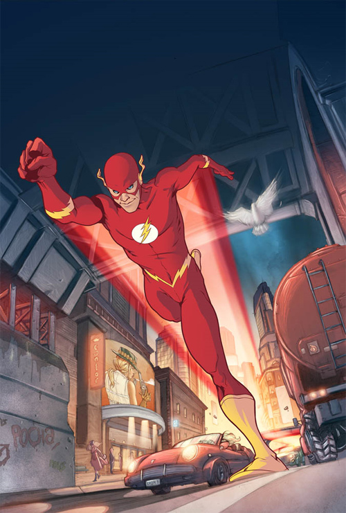 running flash