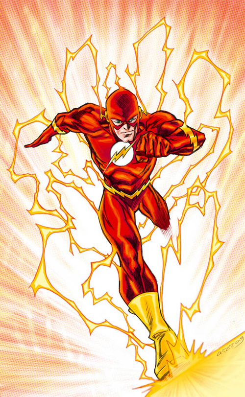 running red flash
