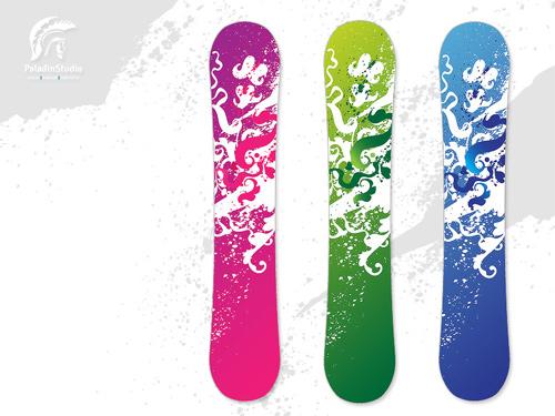flora snowboard design