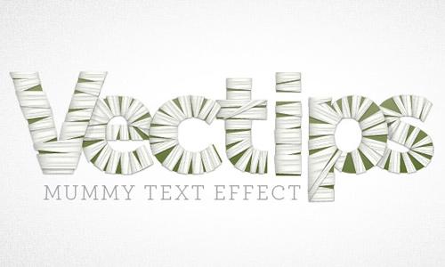 Mummy text Effect
