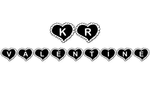 kr valentine heart