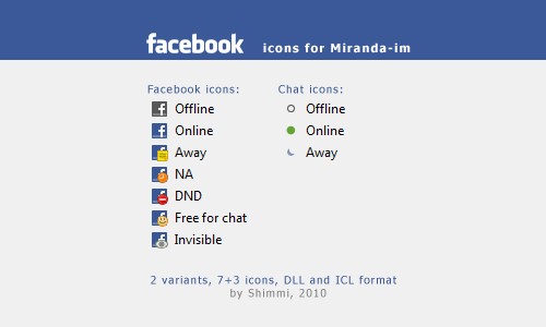 facebook icons for Miranda