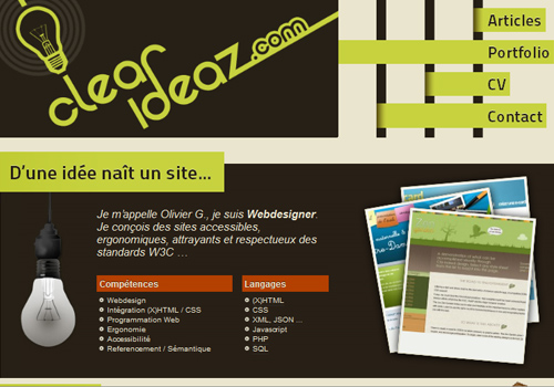 clear ideaz - Web Page Design Ideas