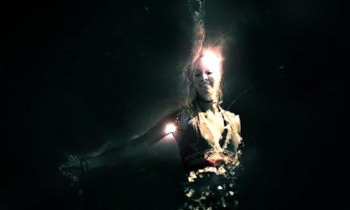 crystallized water girl figure
