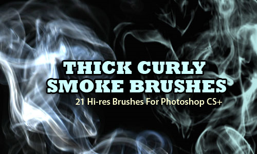 thick curly smoke