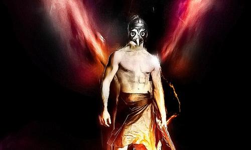 angelic style owl warrior