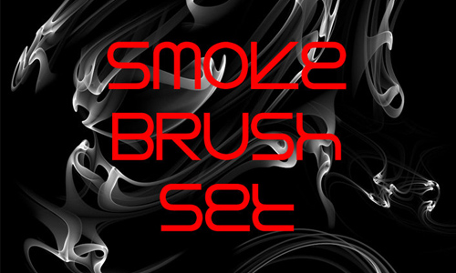 smoke abstrac brush set