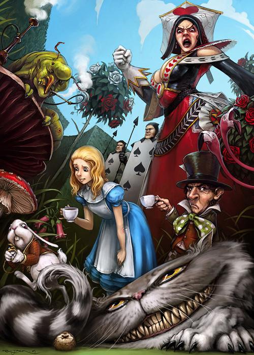 digital-painting-11-Alice-in-Wonderland