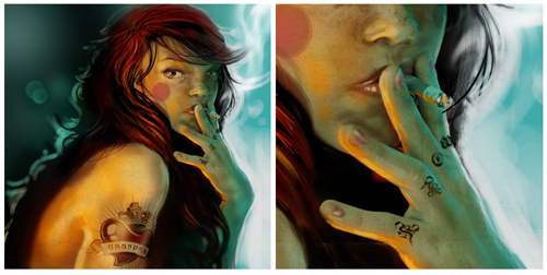 digital-painting-02-tattooed-red-riding-hood