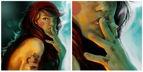 digital-painting-02-tattooed-red-riding-hood