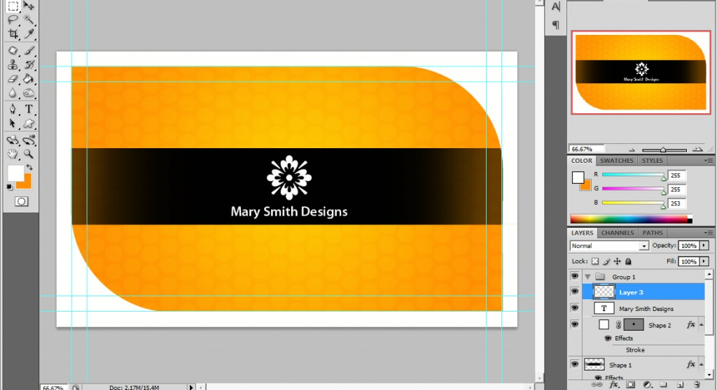 Ucreative Com A Cool Photoshop Business Card Tutorial For Print