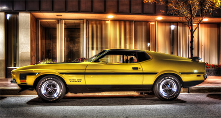 1971 Boss 351 Mustang HDR